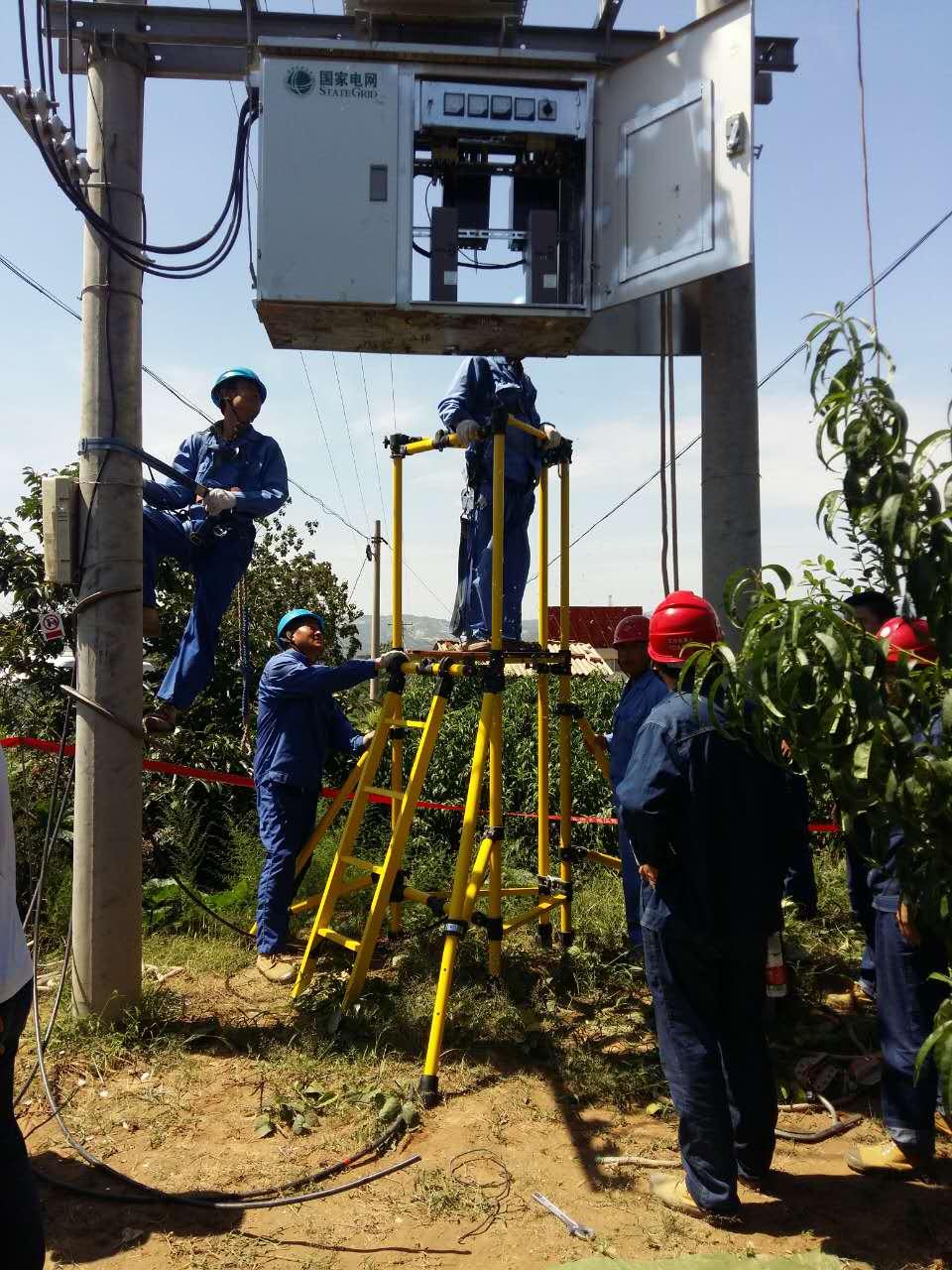 三角形绝缘检修平台用于陕西省10kv变压器检修